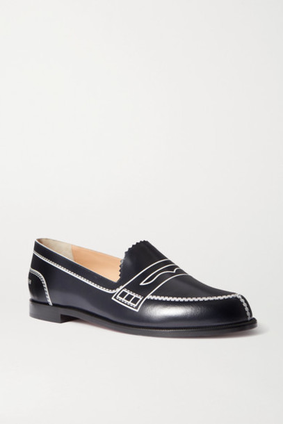 Christian Louboutin - Mocalaureat Printed Leather Loafers - Navy