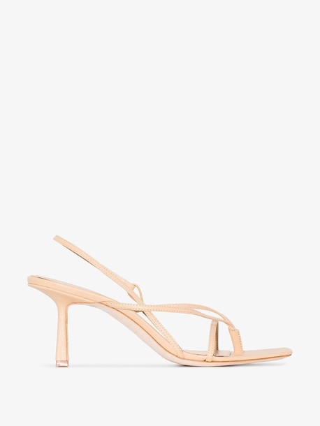 Studio Amelia nude 75 slingback leather sandals in neutrals
