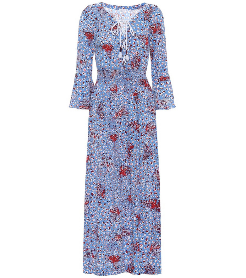 Poupette St Barth Exclusive to Mytheresa – Lucy printed midi dress in blue