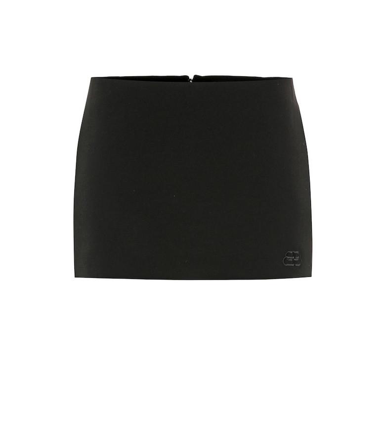 Balenciaga Stretch-wool skort in black