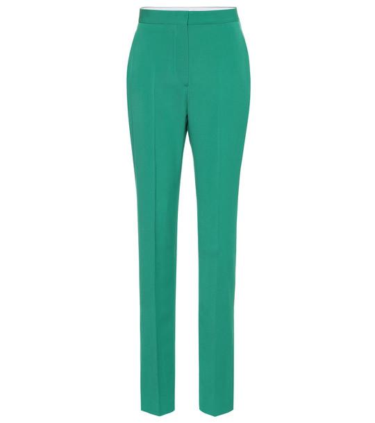 Stella McCartney Wool high-rise pants in green