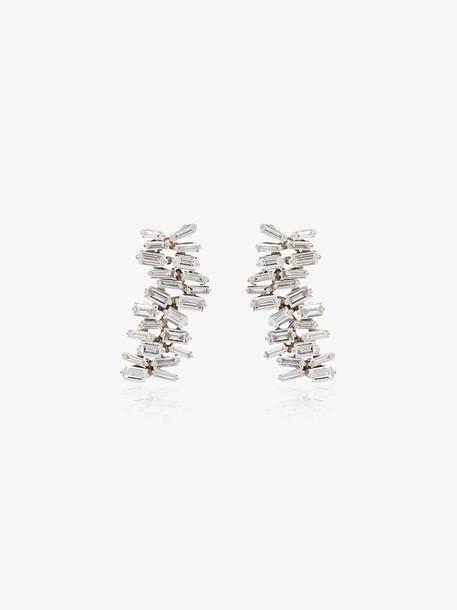 Suzanne Kalan 18K white gold Fireworks diamond earrings