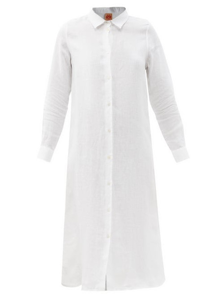 Le Sirenuse, Positano - Dove Lightwind Linen Shirt Dress - Womens - White