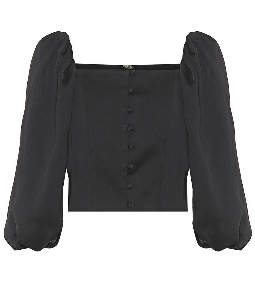 Cult Gaia Petra blouse in black
