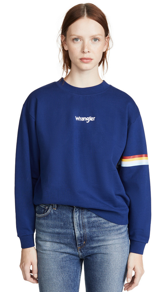 Wrangler 80's Retro Sweatshirt in blue