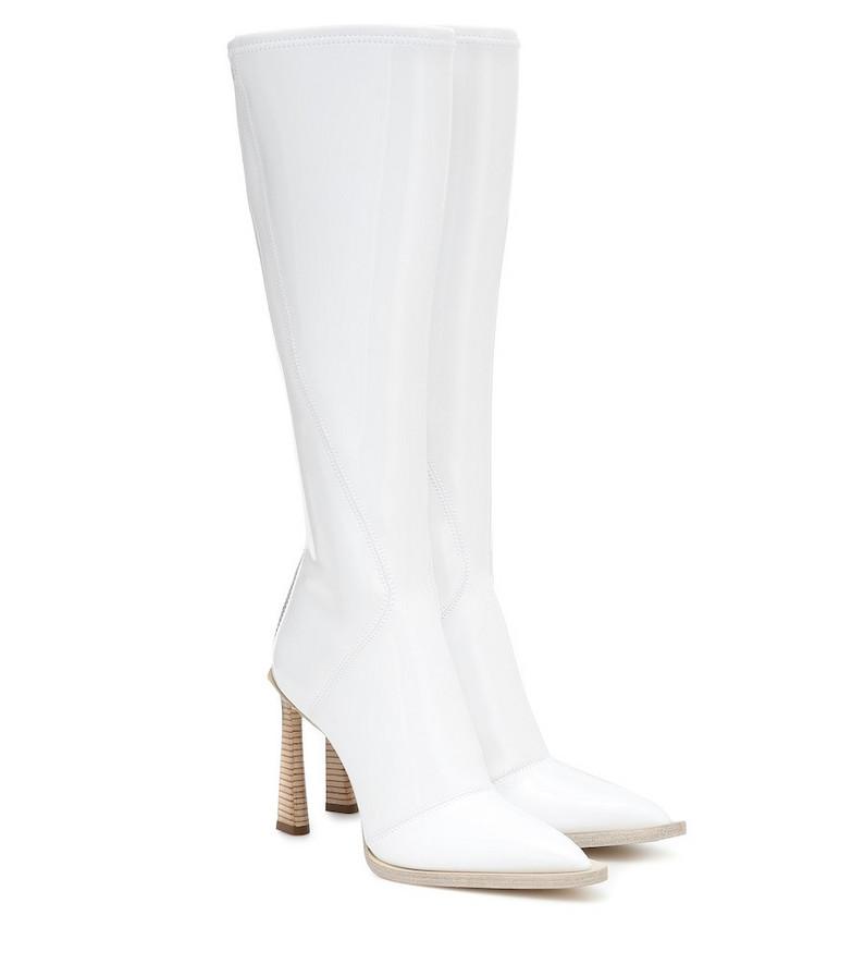 Fendi FFrame neoprene boots in white