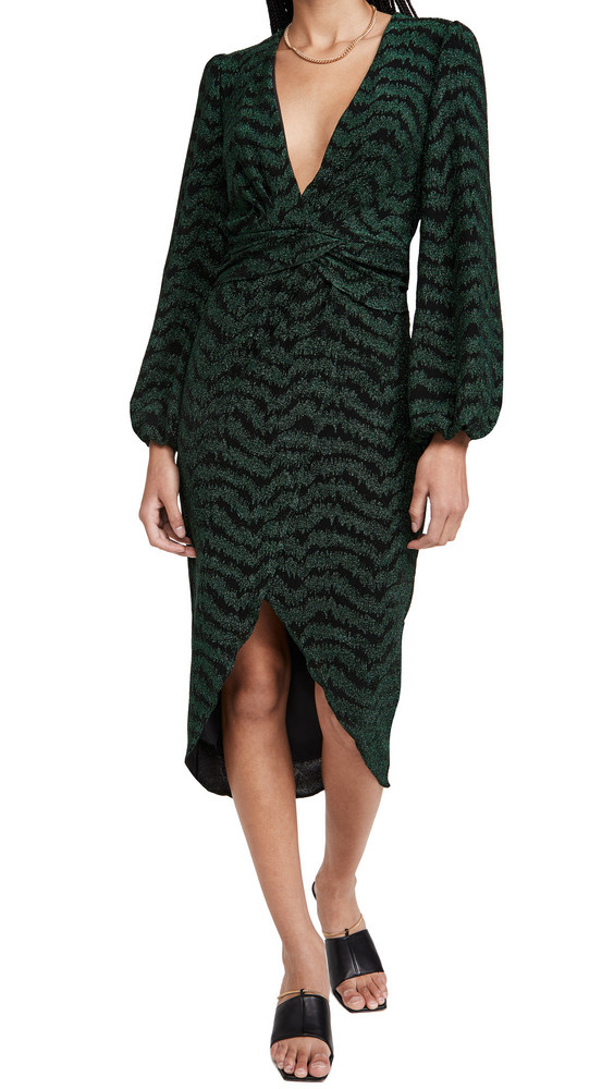 Saylor Camila Dress in emerald