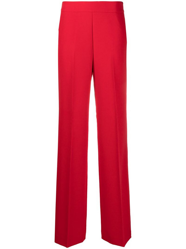 Blumarine wide-leg trousers in red