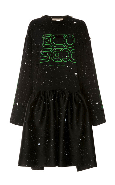 Christopher Kane Ecosexual Jersey Satin Dress Size: 40 in black