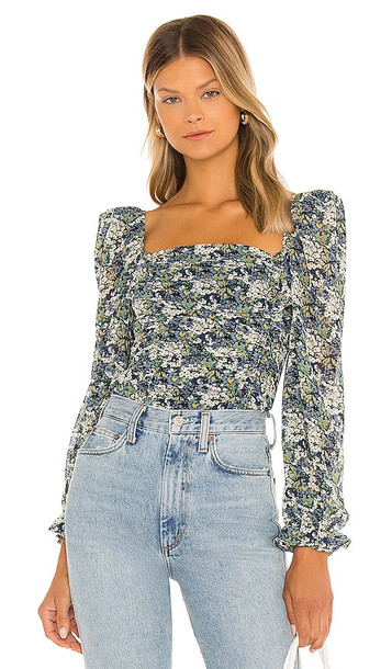 ASTR the Label Tonina Top in Blue,Green