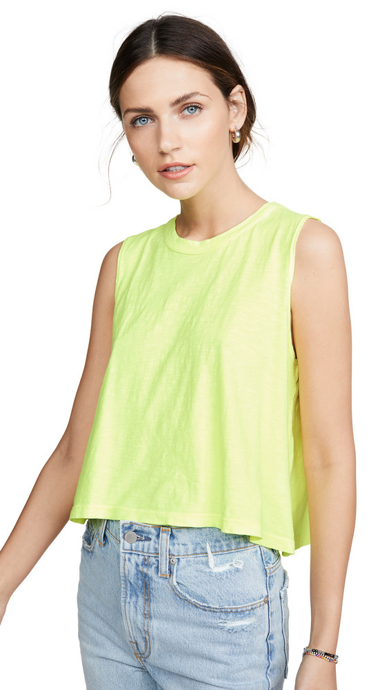 LNA Cape Tank in yellow