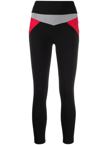 No Ka' Oi colour-block leggings in black