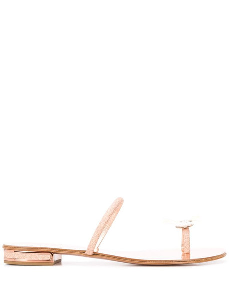 Casadei butterfly ring sandals in gold