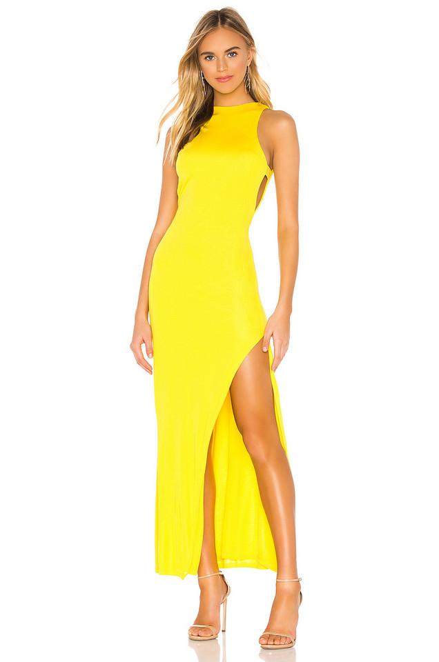 NBD Late Night Gown in yellow
