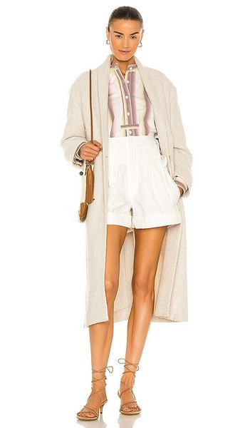 Isabel Marant Etoile Henol Coat in Cream in ecru