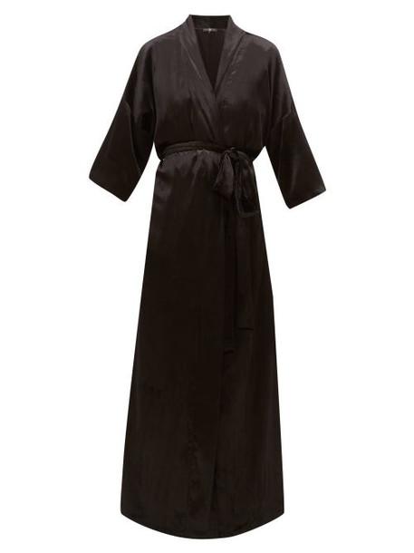 Edward Crutchley - Velvet Robe Coat - Womens - Black