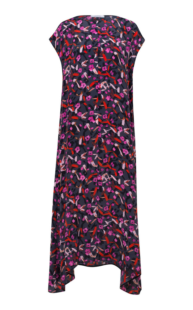 Dorothee Schumacher Abstract Flowering Mock Neck Printed Maxi Dress in multi
