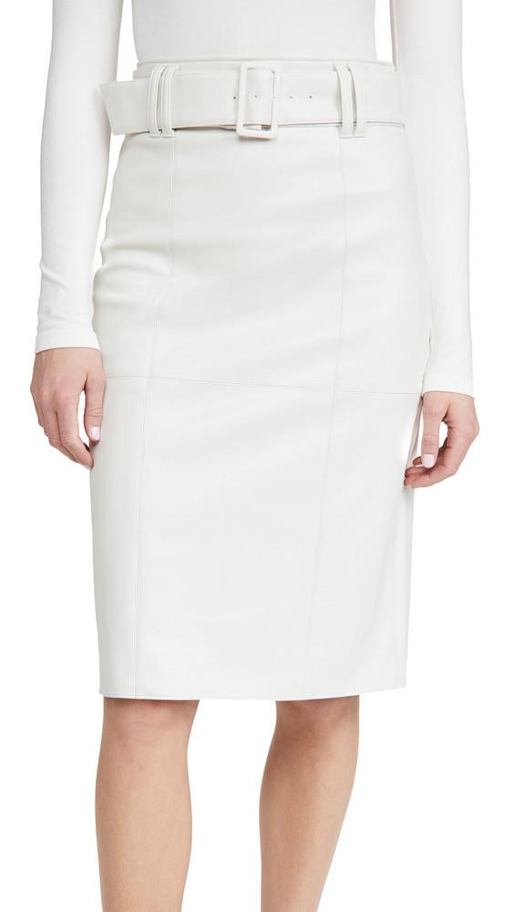 Club Monaco Faux Leather Skirt in grey