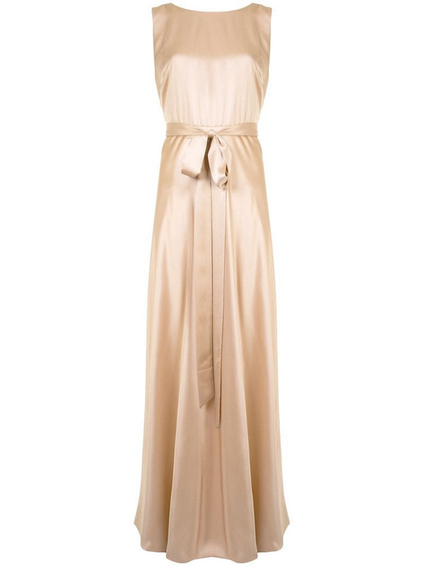 VOZ backward wrap dress in neutrals