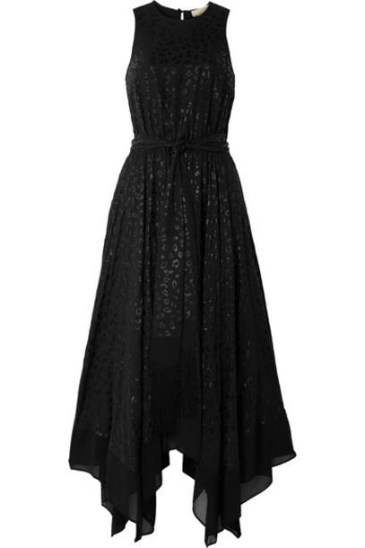 MICHAEL Michael Kors - Leopard-jacquard Midi Dress - Black