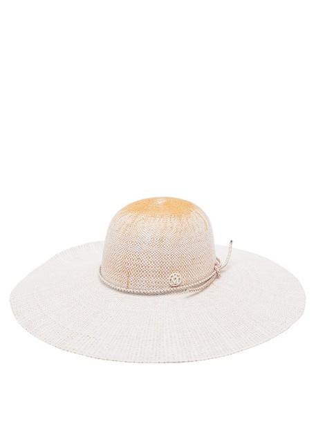 Maison Michel - Blanche Straw Hat - Womens - White Multi