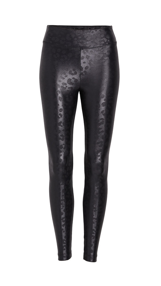 KORAL ACTIVEWEAR Lustrous High Rise Leggings in black / leopard