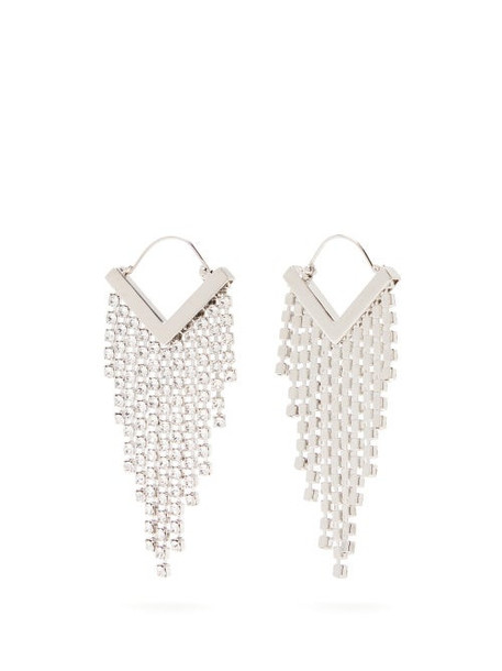 Isabel Marant - Crystal Embellished Fringed Earrings - Womens - Crystal