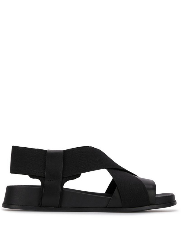 Camper Atonik crossover strap sandals in black
