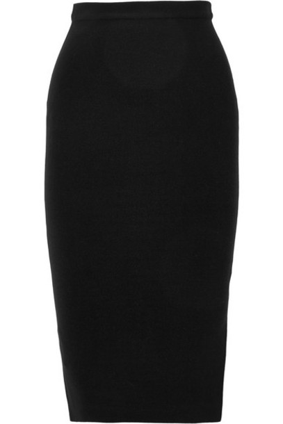 Joseph - Stretch Silk-blend Skirt - Black