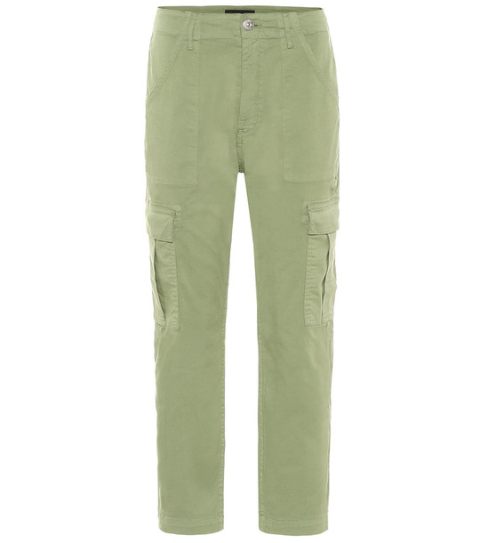 3x1 Alana mid-rise cropped cargo pants in green