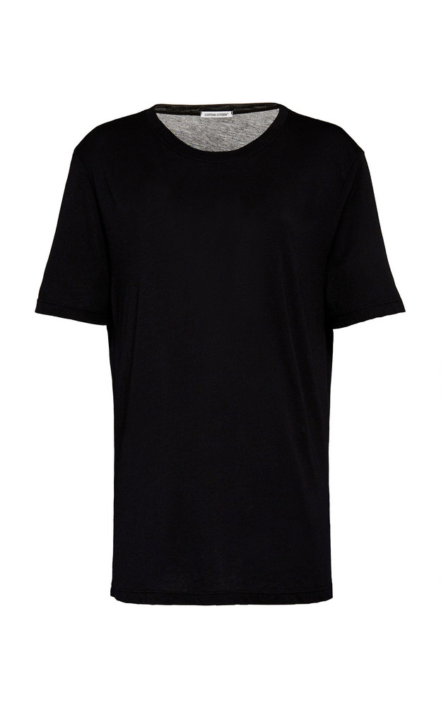 Cotton Citizen Sydney Oversized Cotton-Jersey T-Shirt Size: XS in black