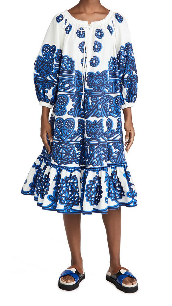 La Double J Folk Dress in blue