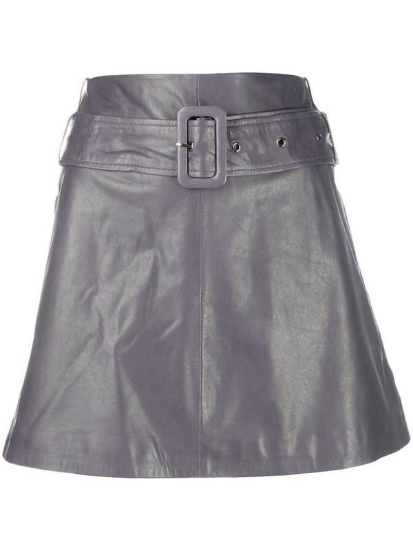 Arma high-rise A-line mini skirt in grey