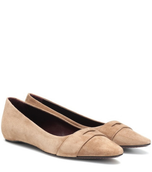 Bougeotte Suede ballet flats in brown