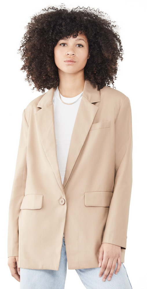 Lioness Welcome To The Jungle Blazer in beige