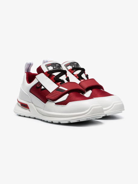 Prada white and red Work low top sneakers