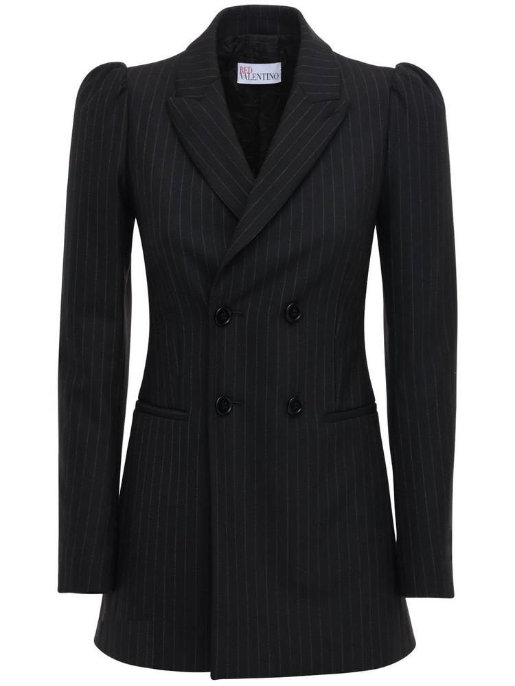 RED VALENTINO Wool Blend Blazer in black
