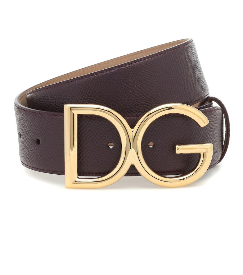 Dolce & Gabbana DG leather belt in black