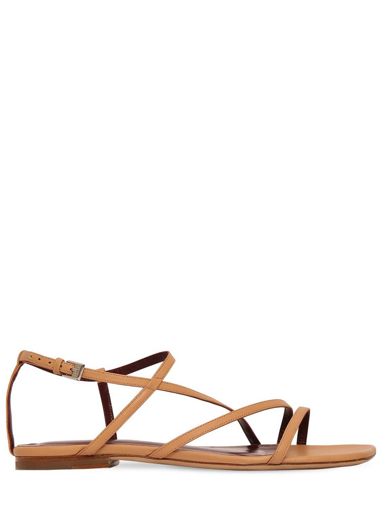 STAUD 10mm Gitane Leather Sandals in camel