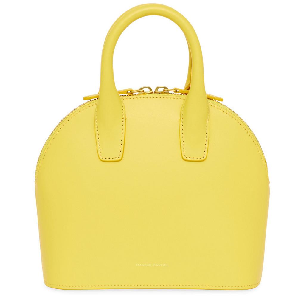 Mansur Gavriel Calf Mini Top Handle Bag - Sun