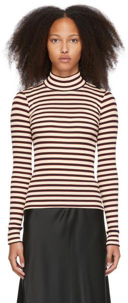 Rosetta Getty Multicolor Mercerized Cotton Vintage Stripe Sweater in multi