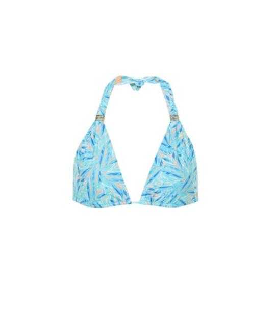 Melissa Odabash Grenada printed bikini top in blue