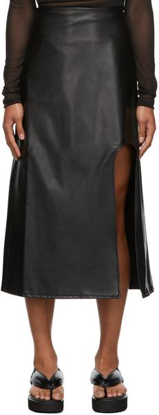 Markoo The U Slit Skirt in black