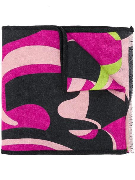 Emilio Pucci x Koché printed wool scarf in black