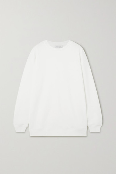 Ninety Percent - Net Sustain Linda Organic Cotton-terry Sweatshirt - White