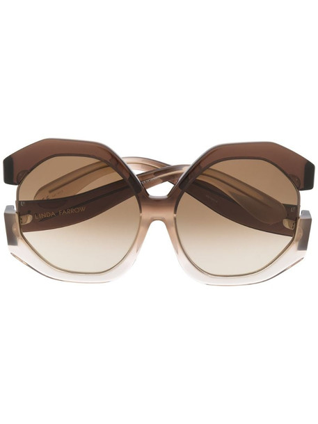 Linda Farrow 1071 C4 sunglasses in brown