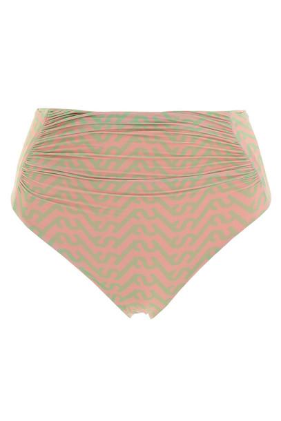 self-portrait Monogram Bikini Briefs in green / pink