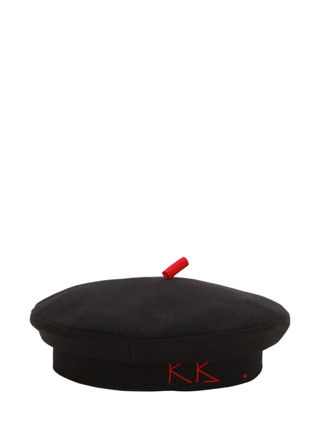 RUSLAN BAGINSKIY Basque Wool Hat in black