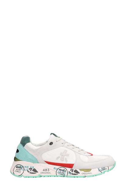 Premiata White Suede And Fabric Mase Sneakers