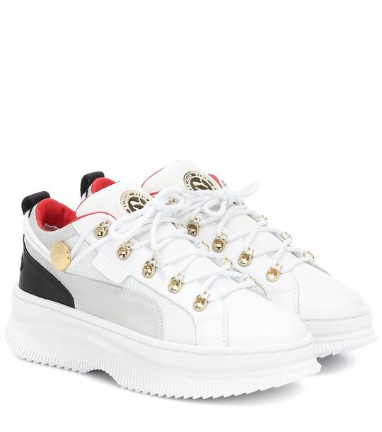 Puma x Balmain Deva leather sneakers in white